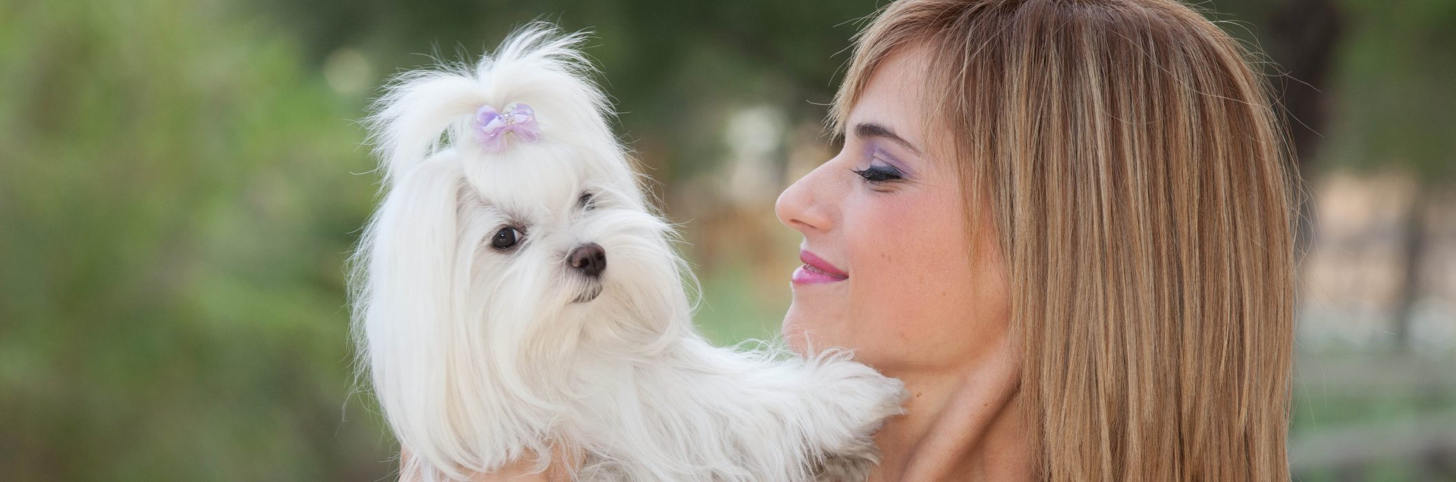 Lady with white dog for home page